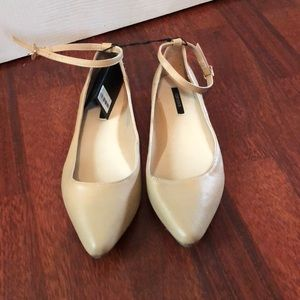 Forever 21 nude flats with ankle straps 7 NWT